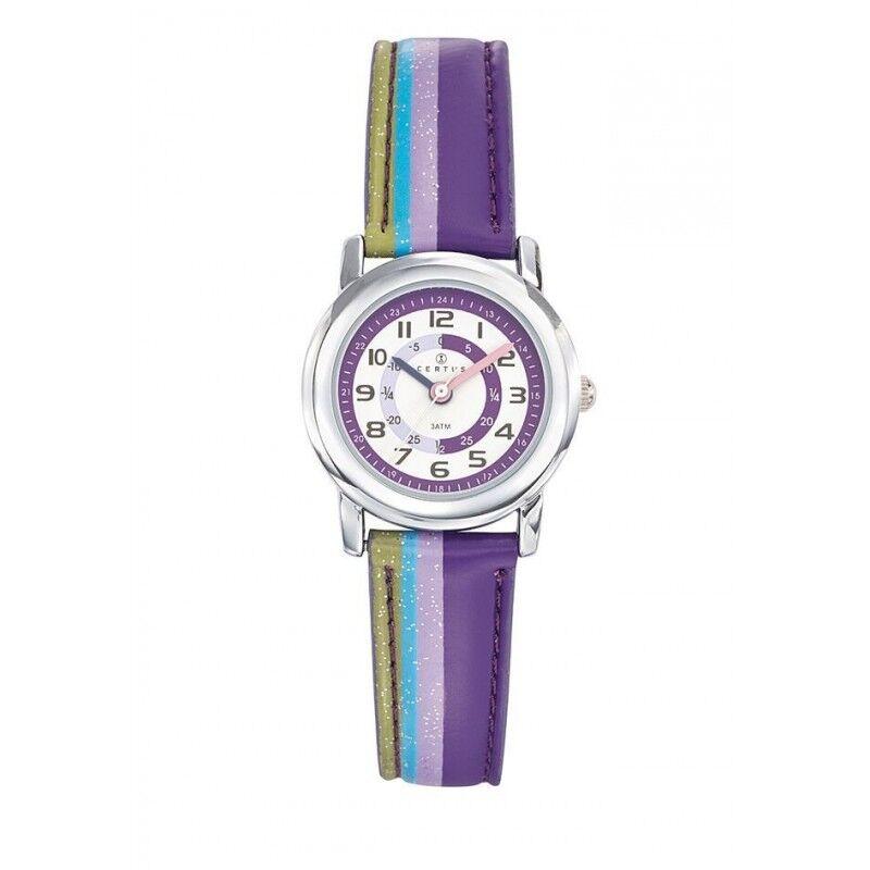 Certus Montre Enfant Bracelet Cuir Synthétique Violet 647380