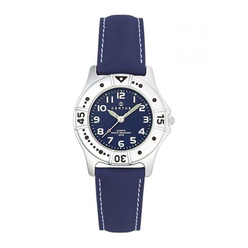 Certus Montre Enfant Bracelet Cuir Synthétique Bleu 647400