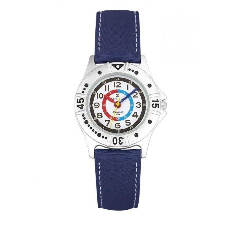 Certus Montre Enfant Bracelet Cuir Synthétique Bleu 647435
