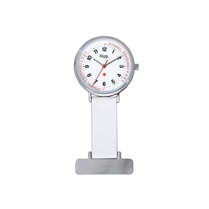 Hipp Montre Femme Infirmière Analogique Quartz Bracelet Cuir Blanc - H30004