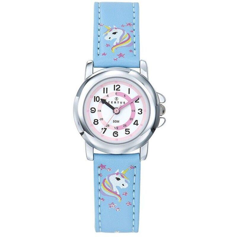Certus Montre Enfant Cuir Bleu Licorne 647639
