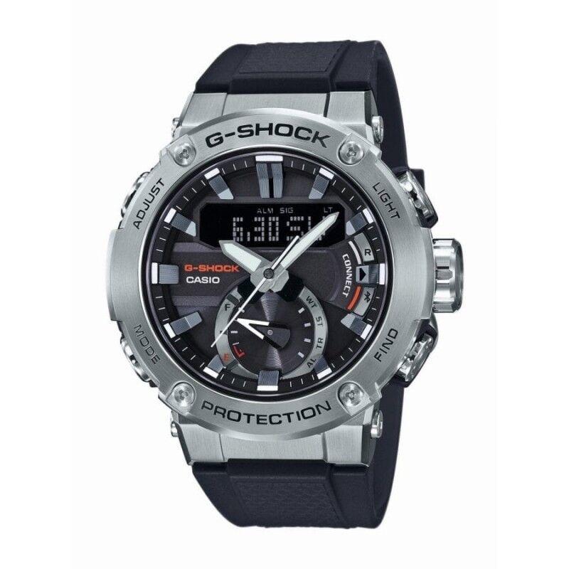 Casio Montre Homme G-Shock G-Steel Bluetooth Acier Silicone Noire GST-B200-1AER