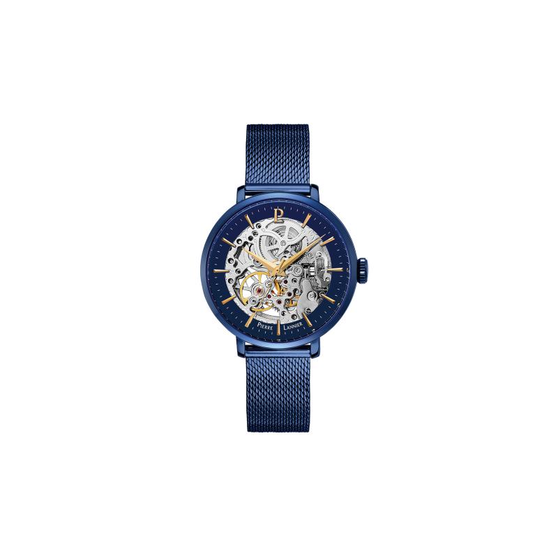 Pierre Lannier Automatic Femme Acier Bleu Milanais 309D968