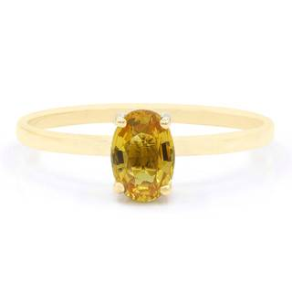 Juwelo Bague en or et Saphir jaune