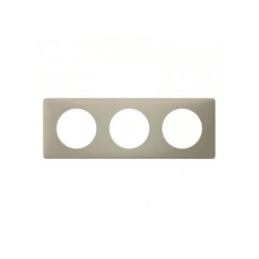 Legrand Céliane plaque poudrée 3 postes argile 066713