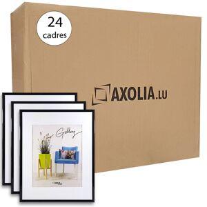 Axolia Lot de 24 Cadres 30x30 Noir - Publicité