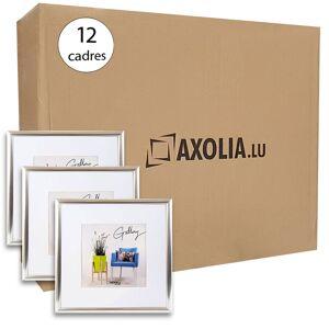 Axolia Lot de 12 Cadres 30x30 Argent - Publicité