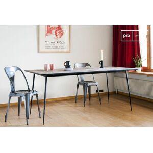 PIB Table de repas en bois et métal Sherman - Publicité