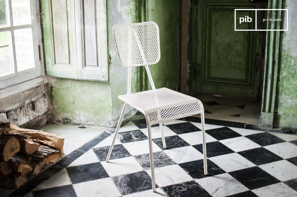 PIB Chaise blanche Métalo