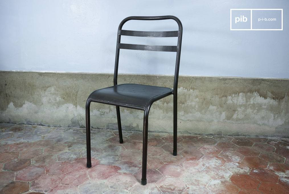 PIB Chaise metal empilable brune
