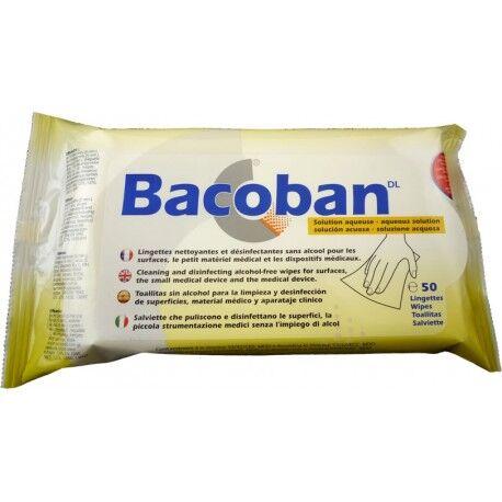ROPIMEX Lingettes nettoyantes et désinfectantes BACOBAN sans alcool - Les 50