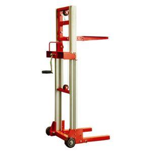 Rolléco Mini gerbeur manuel pliable Charge maximale : 80 kilos - Publicité