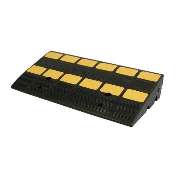 Rolléco Rampe d'accès avec passes câbles 35 et 40mm En caoutchouc