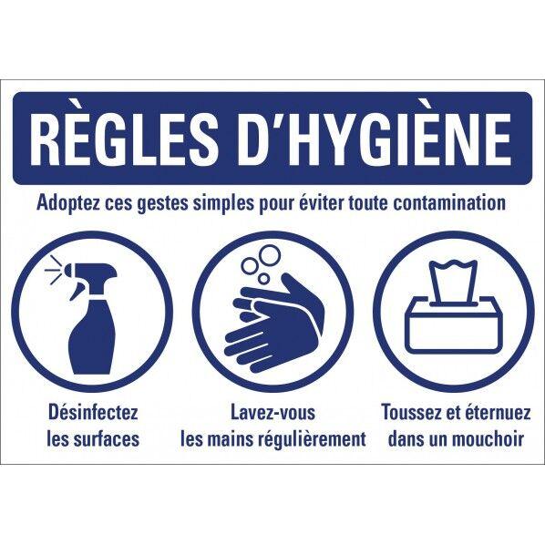 Rolléco Panneau règles d'hygiène Présentoir PVC