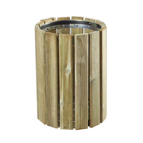 Rolléco Corbeille en bois 20 litres Capacité 20 litres