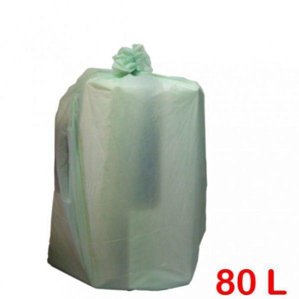 Rolléco Sac poubelle biodégradable 80L Vert