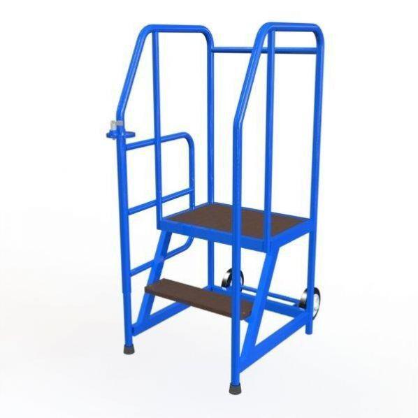 Rolléco Escabeau mobile avec accès sécurisé 3 marches