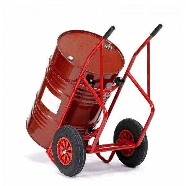 Rolléco Diable chariot pour fût métallique Roues pneumatiques