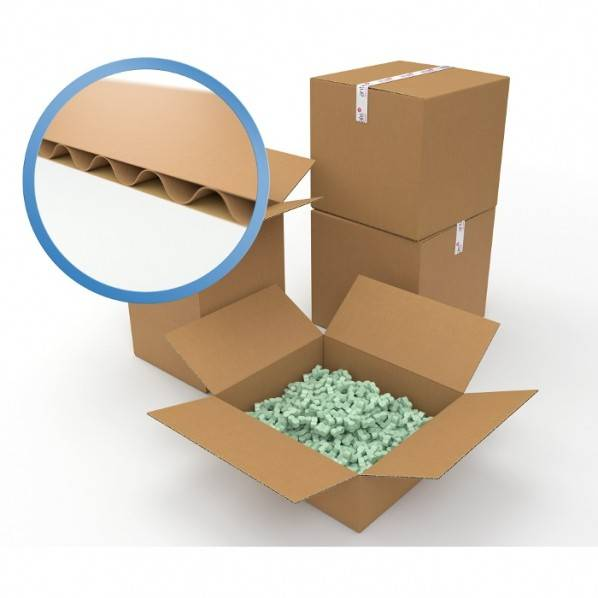 Rolléco Caisse carton simple cannelure 540 x 360 x 320 mm Simple cannelure