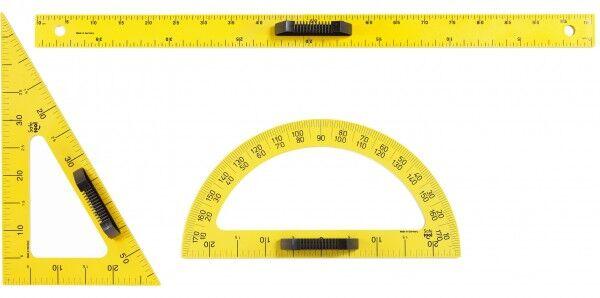 Rolléco Kit outils de traçage magnétique 1 rapporteur, 1 règle, 1 équerre