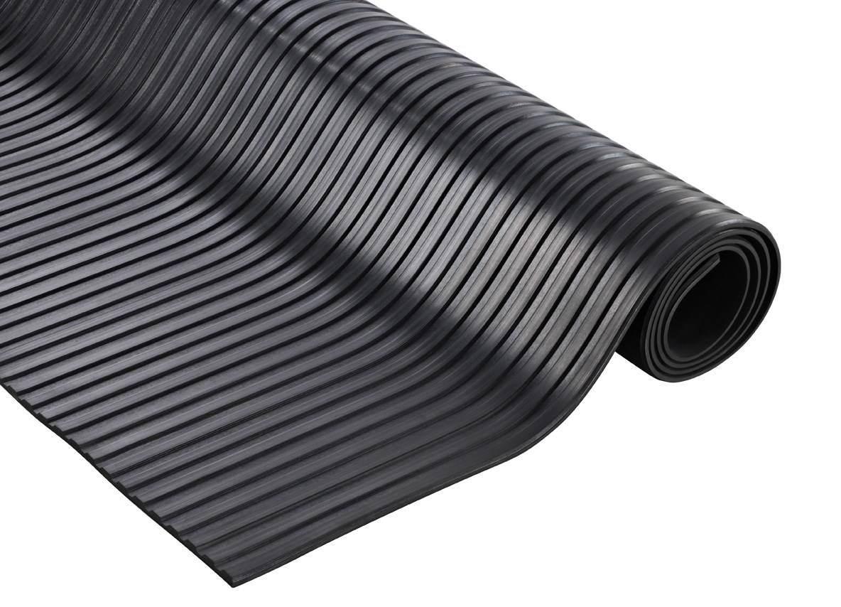 SETAM Rouleau de tapis caoutchouc cannelé 10 mètres