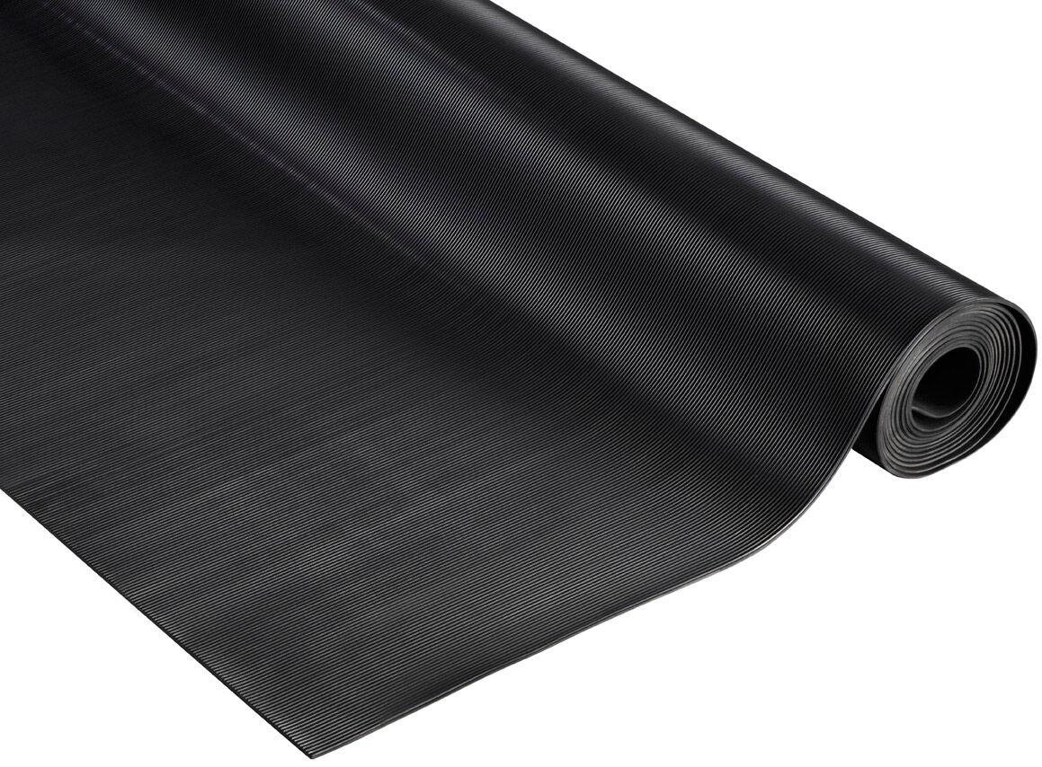 SETAM Rouleau tapis caoutchouc antidérapant strié longueur 10 m