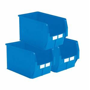 SETAM Carton 5 bacs plastiques à bec 42 litres bleu