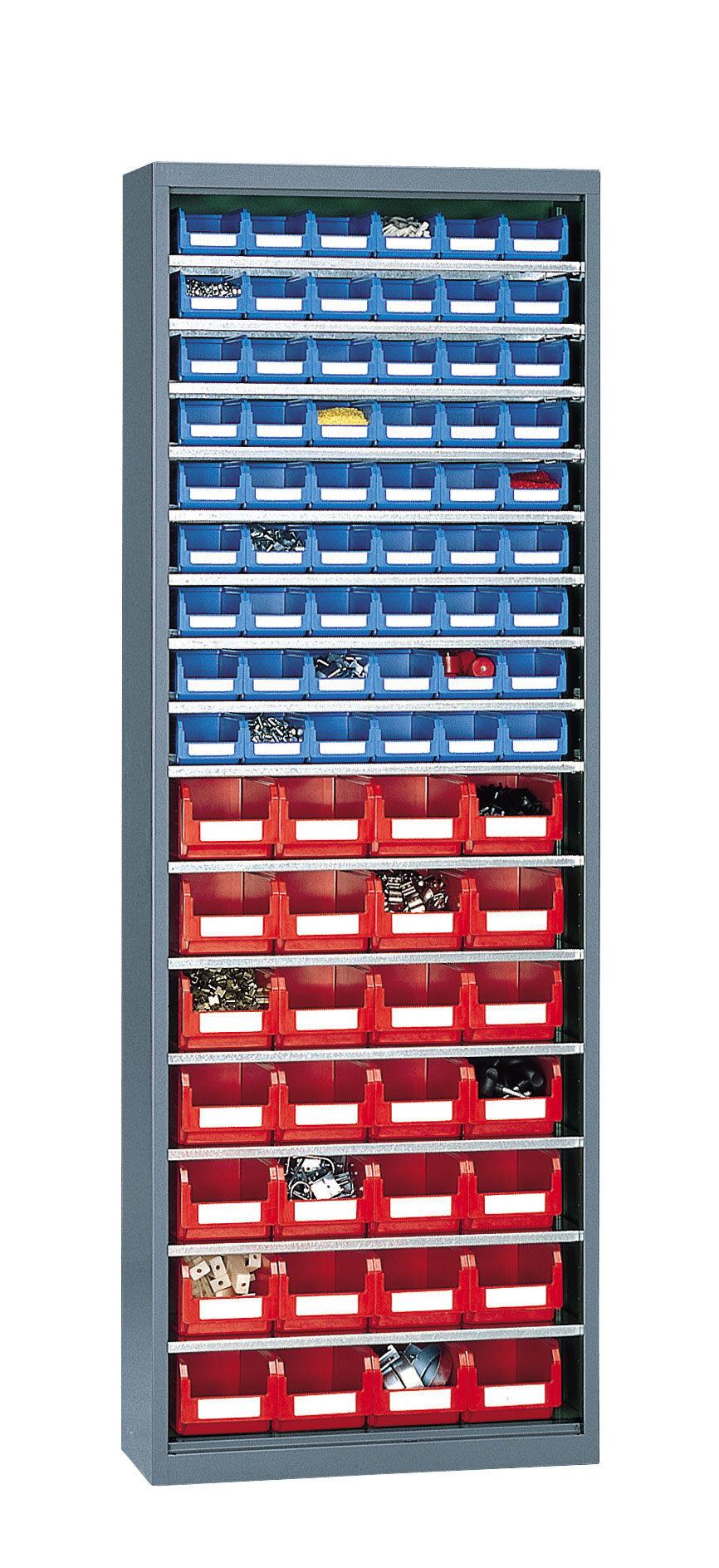 SETAM Armoire avec 82 bacs de rangement à bec