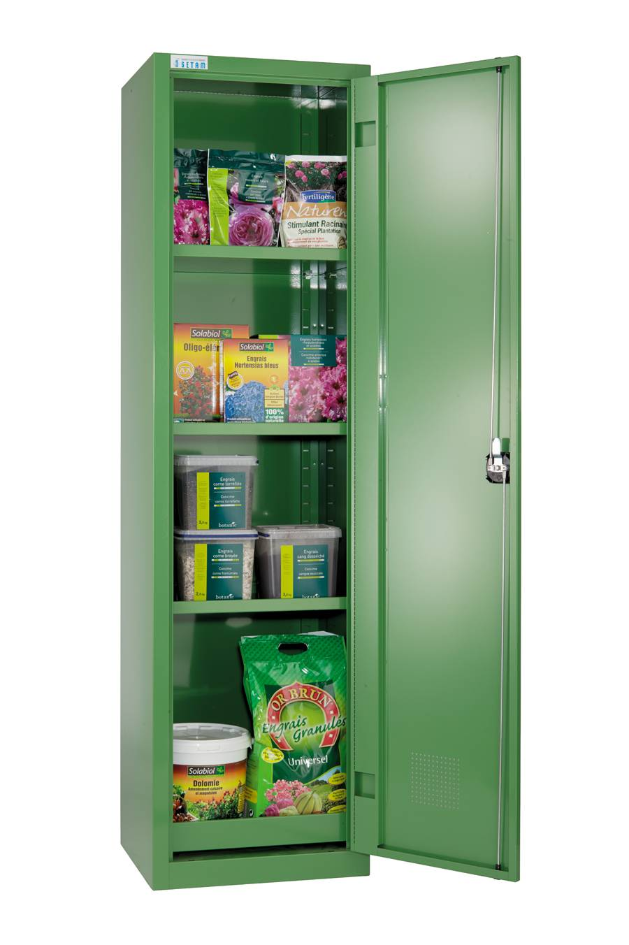 SETAM Armoire phytosanitaire volume 150 litres 1 porte