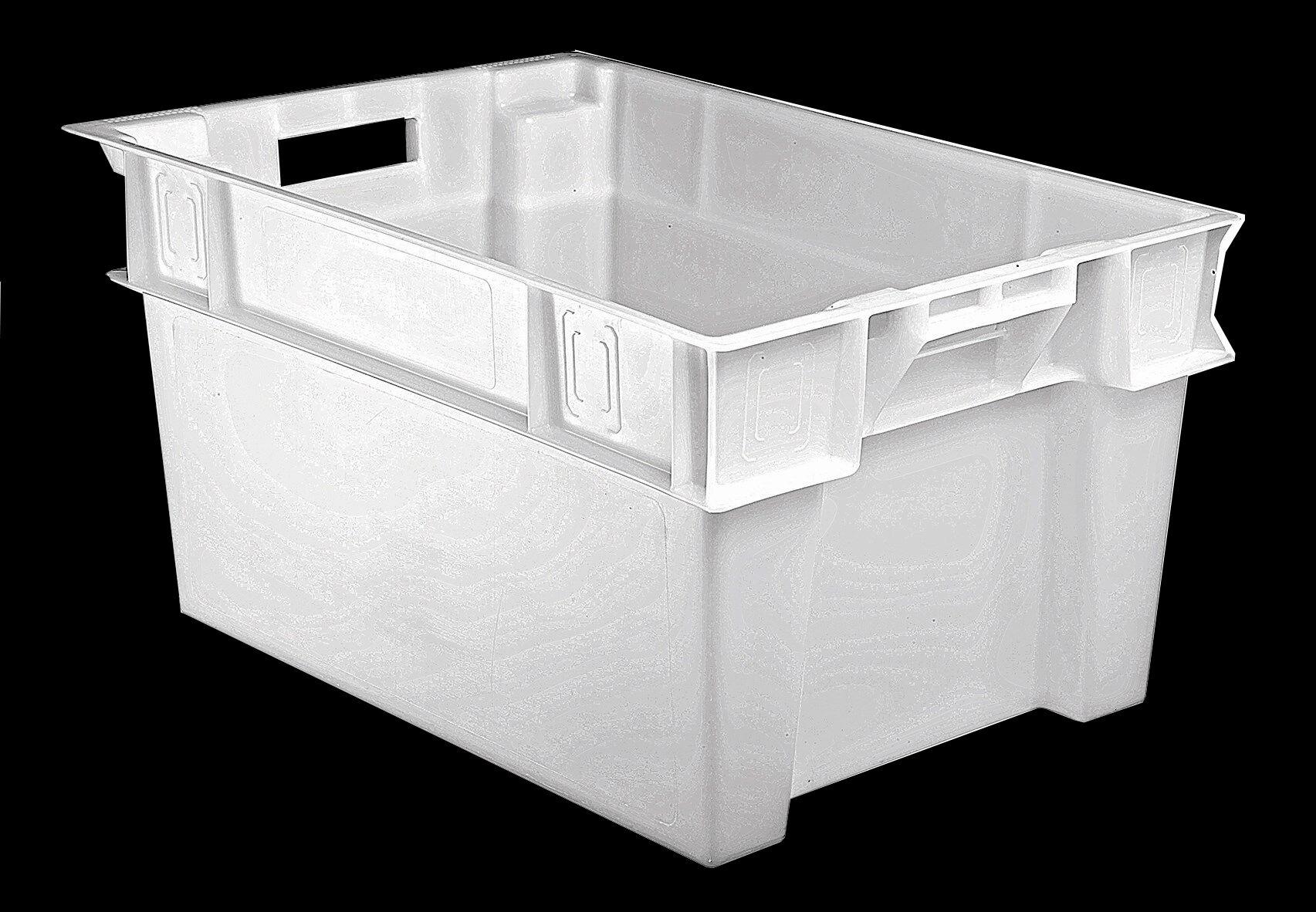 SETAM Bac alimentaire plastique professionnel blanc 50 litres H300