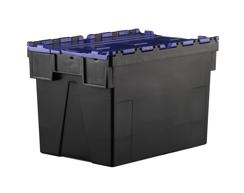 SETAM Bac navette 600x400 volume 63 dm3 avec couvercle Bleu