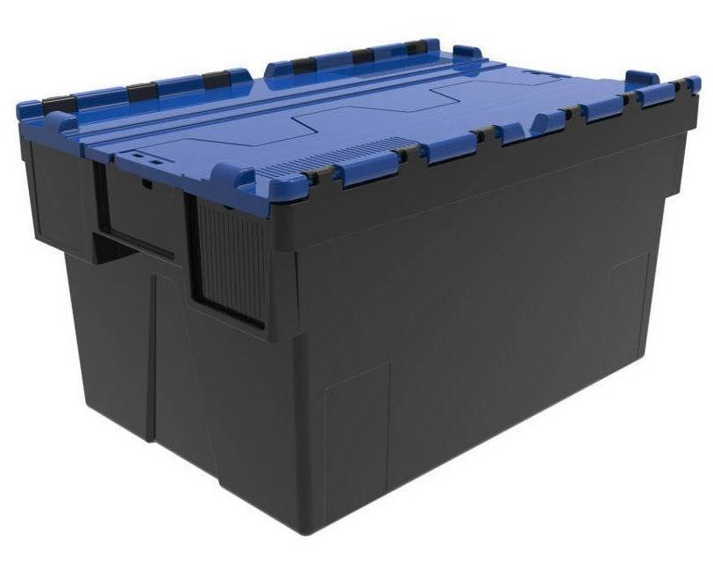 SETAM Bac navette 600x400 volume 69 dm3 avec couvercle Bleu