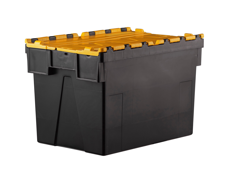 SETAM Bac navette 600x400 volume 69 dm3 avec couvercle Jaune