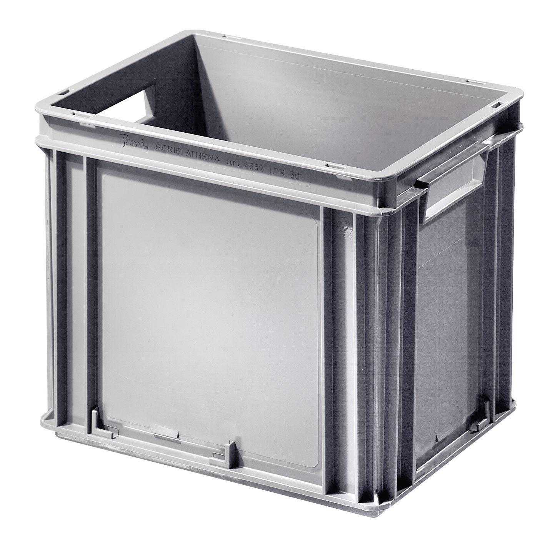 SETAM Bac plastique coloris gris 30 litres avec poignées