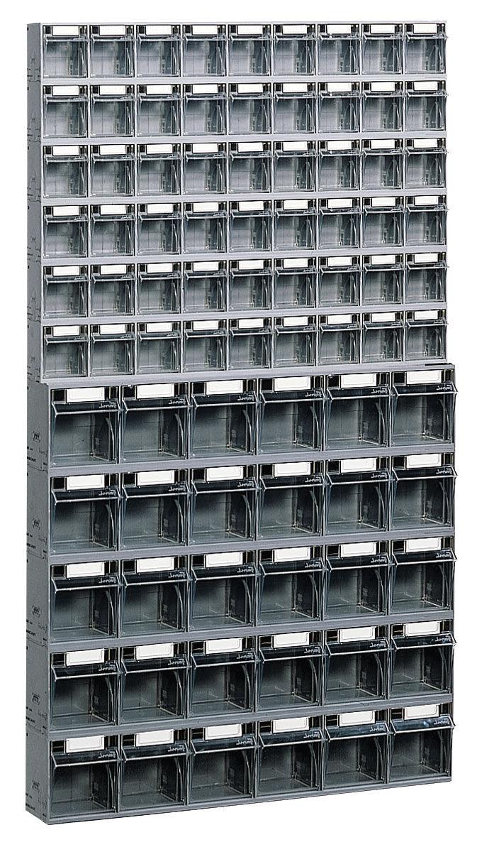 SETAM Bloc tiroir avec 84 tiroirs plastique et support mural