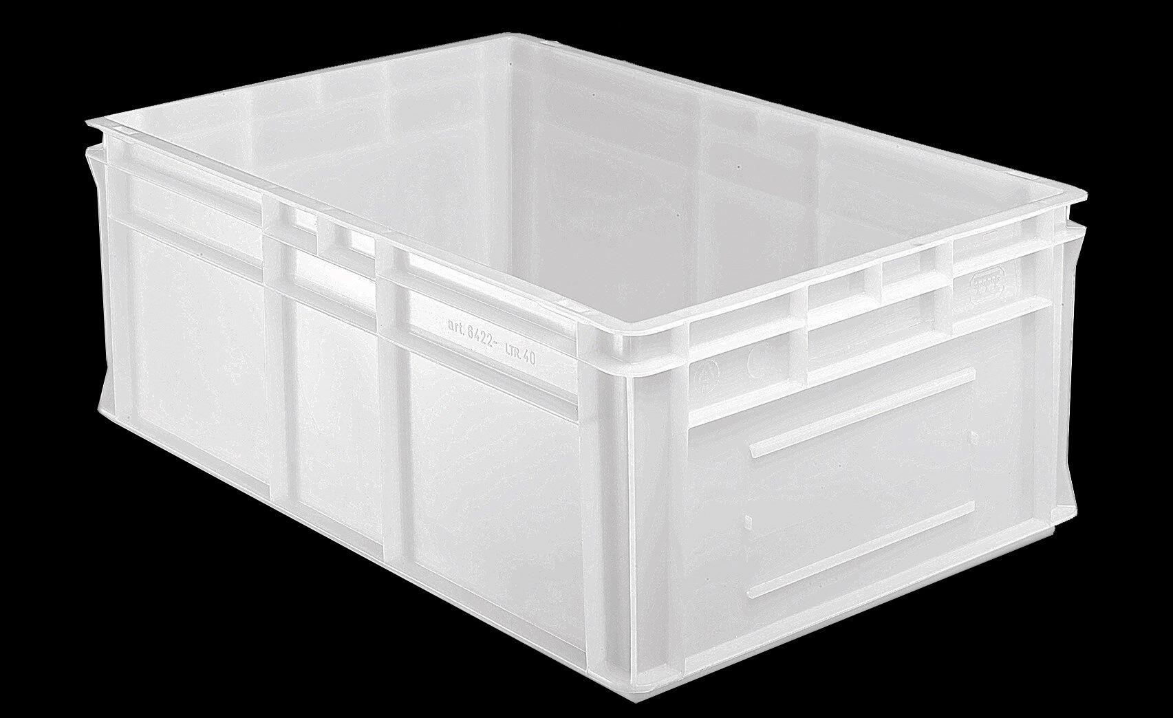 SETAM Caisse alimentaire plastique 40 litres 600x400