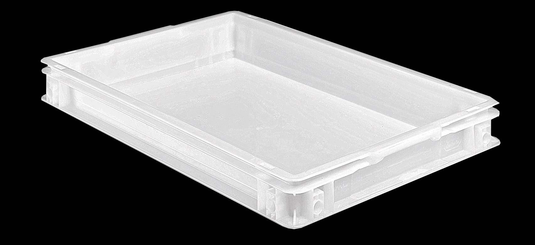 SETAM Caisse alimentaire plastique blanc 10 litres