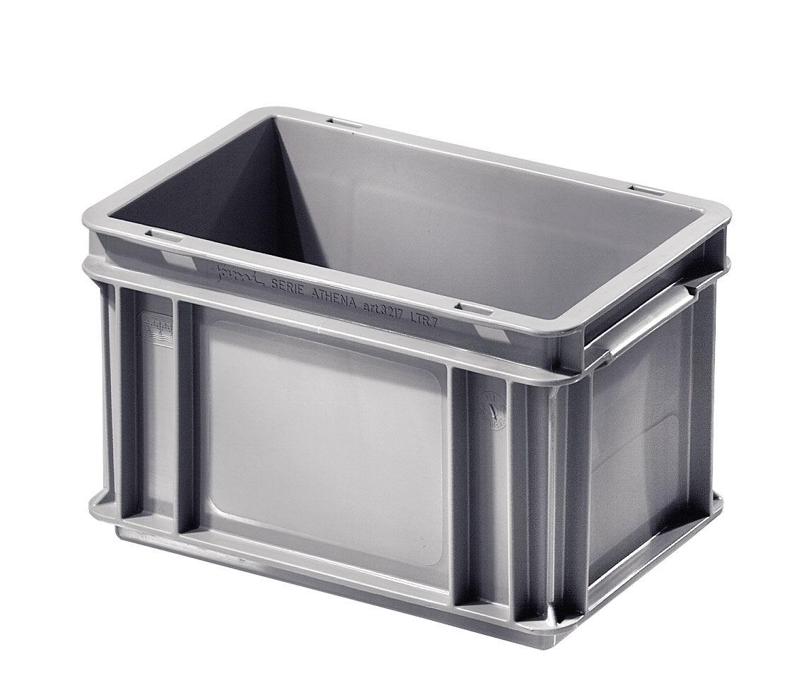 SETAM Caisse plastique 7 litres 30x20 cm coloris Gris