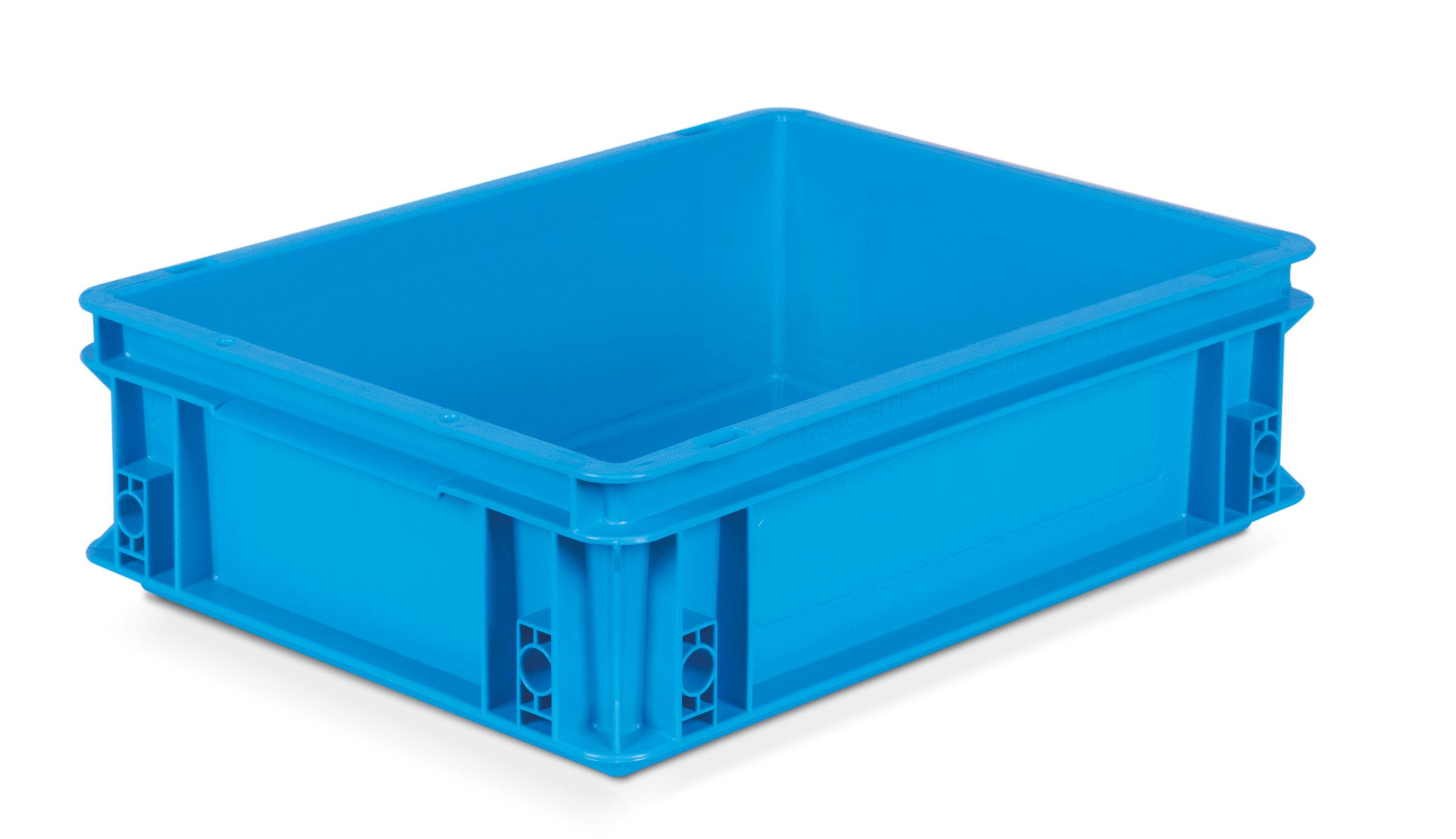SETAM Caisse plastique Europe 400x300 coloris Bleu 10 litres