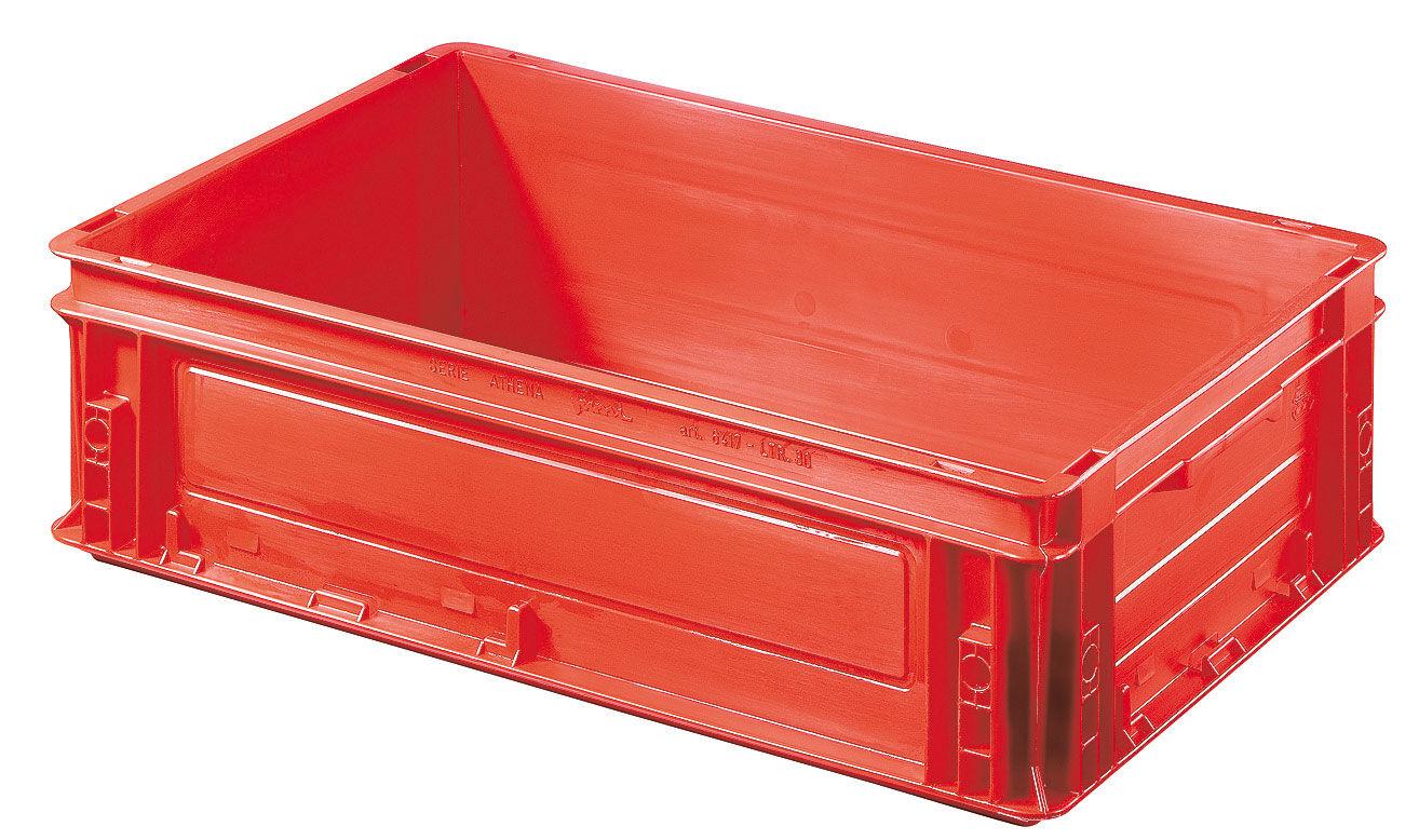 SETAM Caisse plastique rouge 30 litres