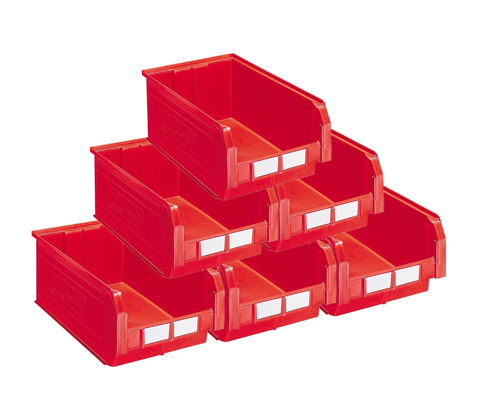 SETAM Carton 10 bacs à bec 28 litres rouge