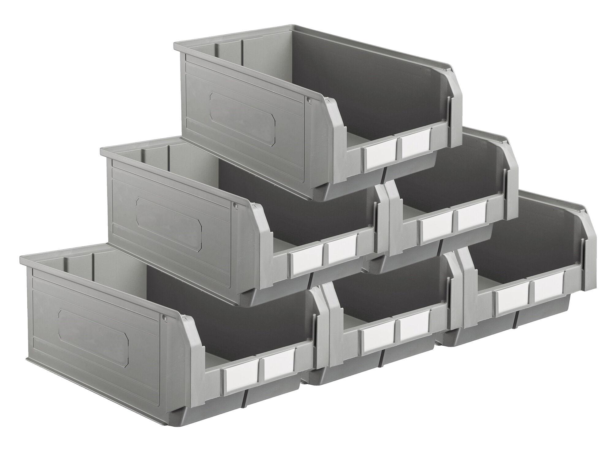 SETAM Carton 10 bacs à bec coloris gris volume 28 litres