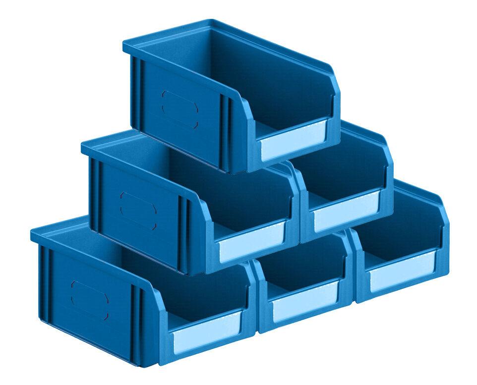 SETAM Carton 50 bacs à bec 1 litre coloris bleu