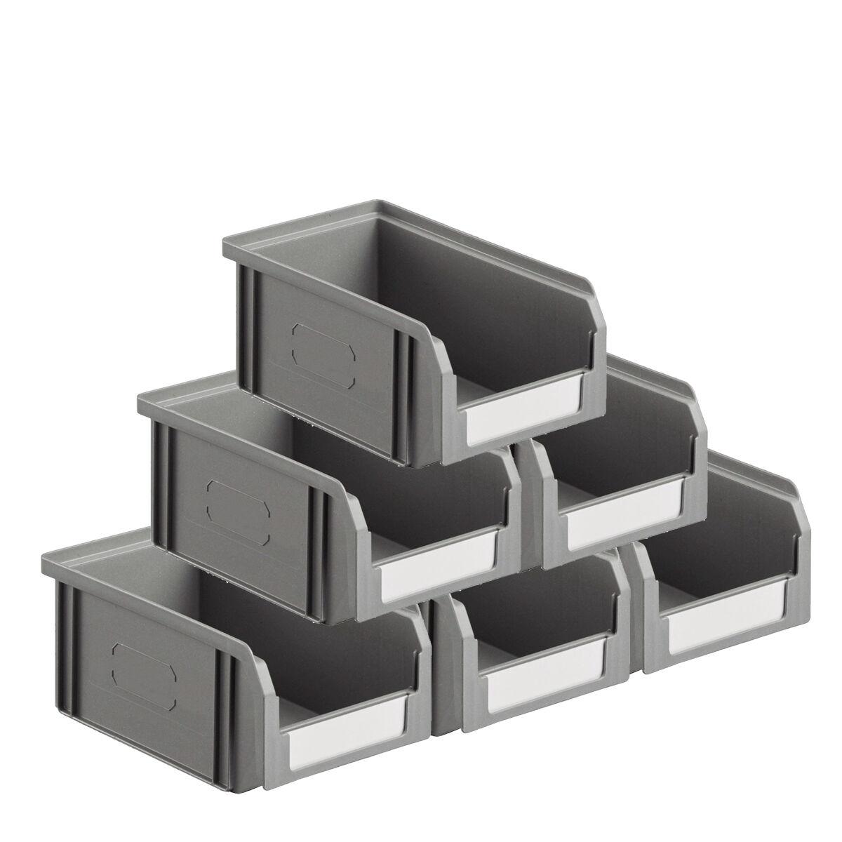 SETAM Carton 50 bacs à bec coloris gris volume 1 litre