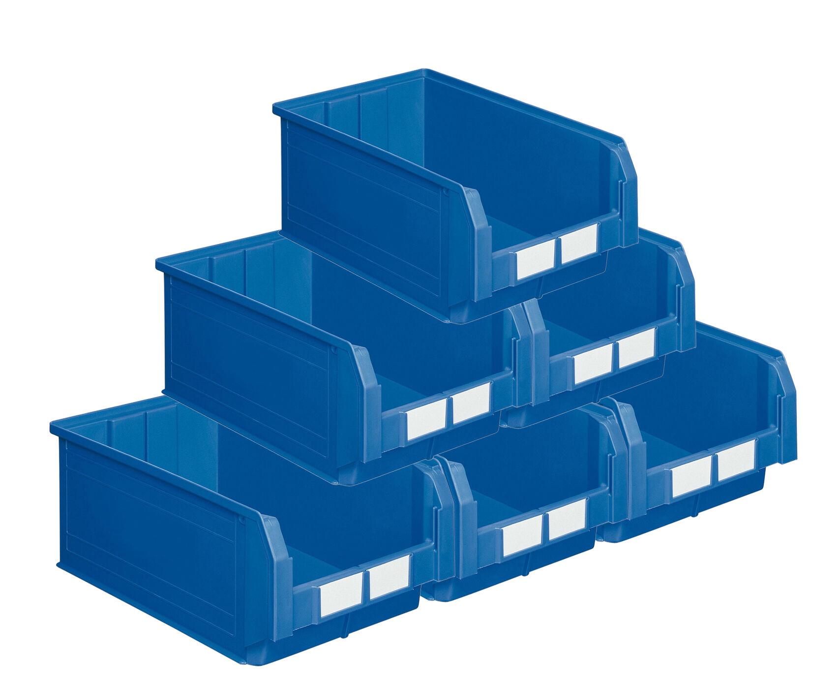 SETAM Carton de 10 bacs à bec 28 litres bleu