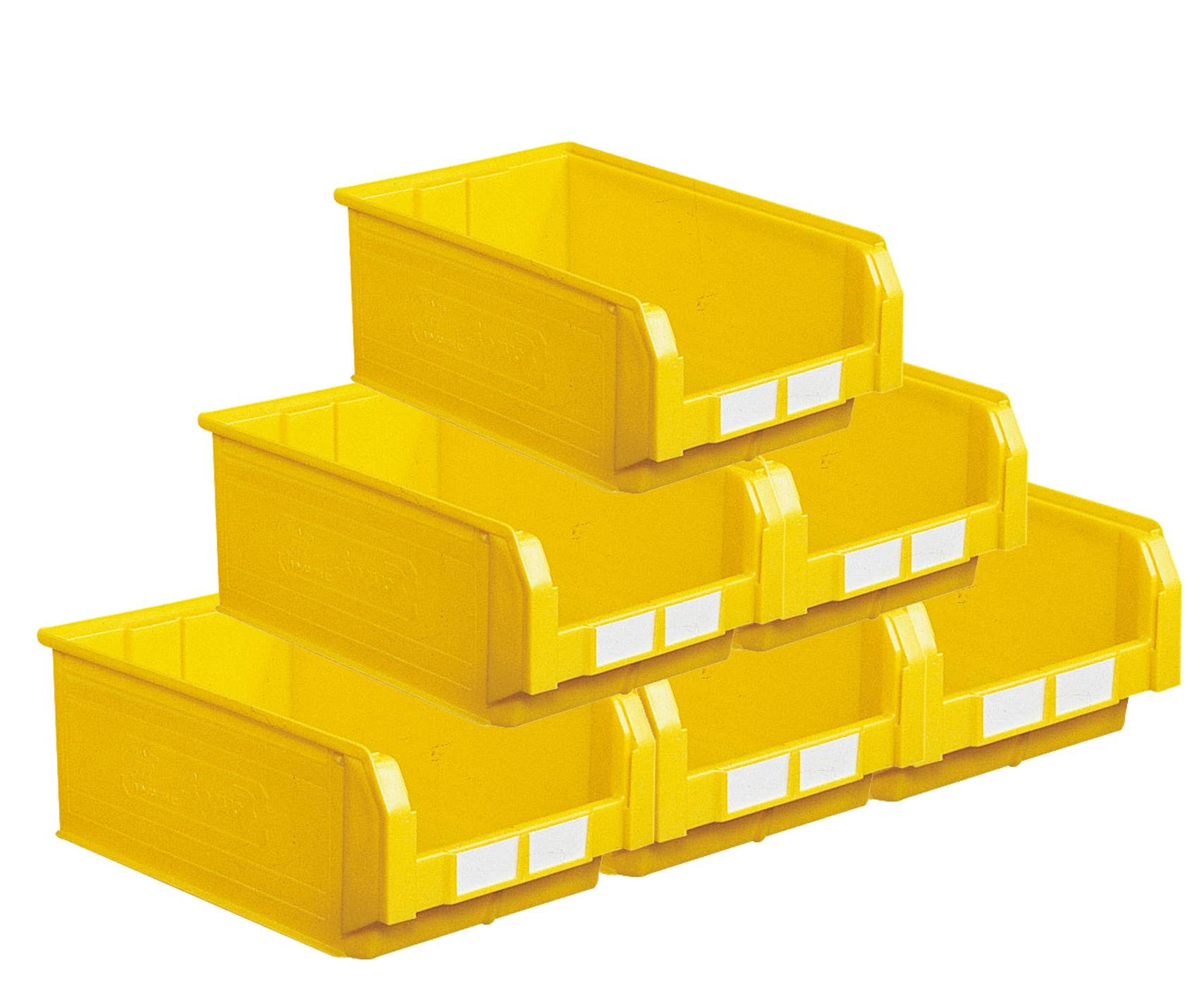 SETAM Carton de 10 bacs à bec 28 litres jaune