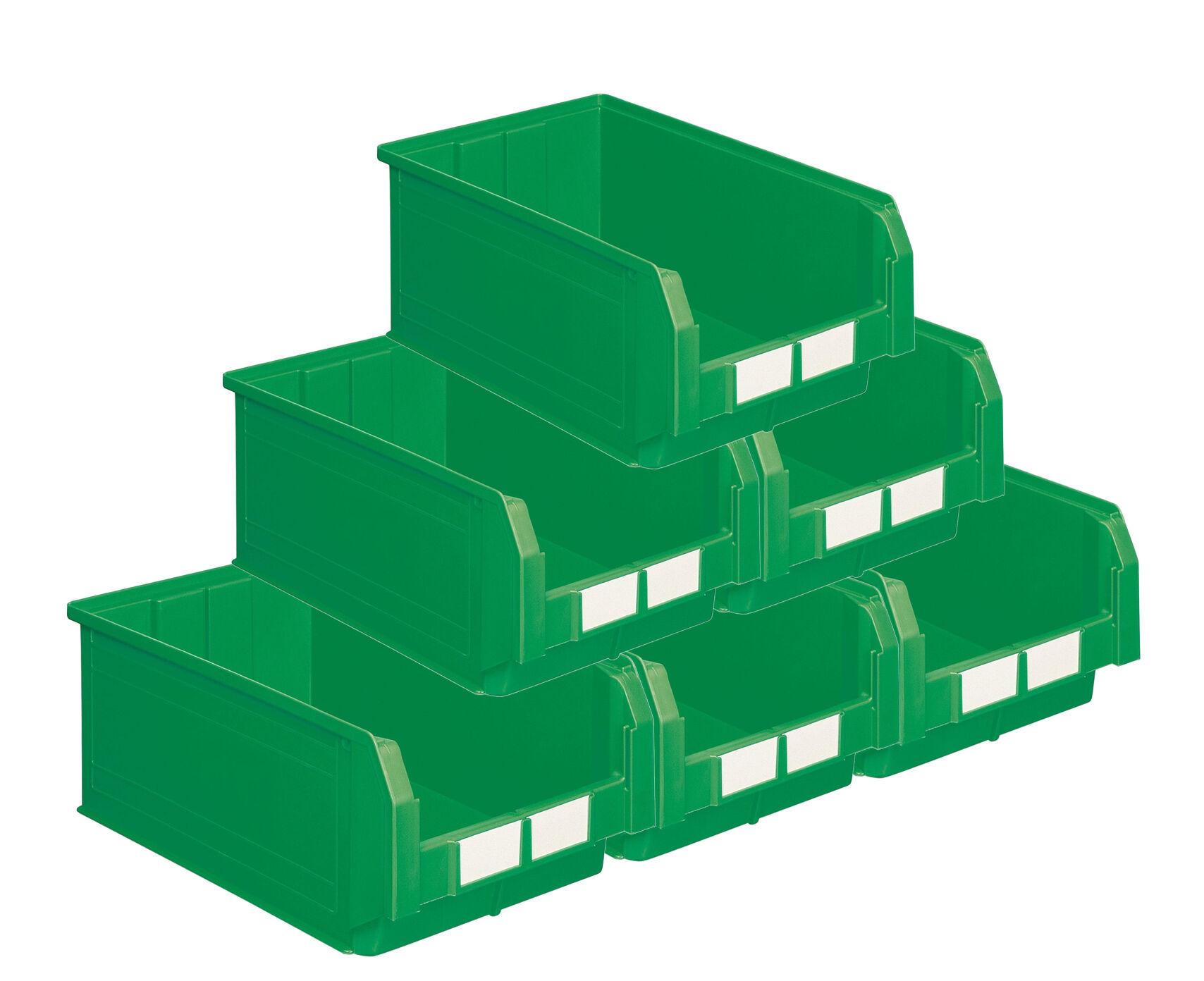 SETAM Carton de 10 bacs à bec 28 litres vert