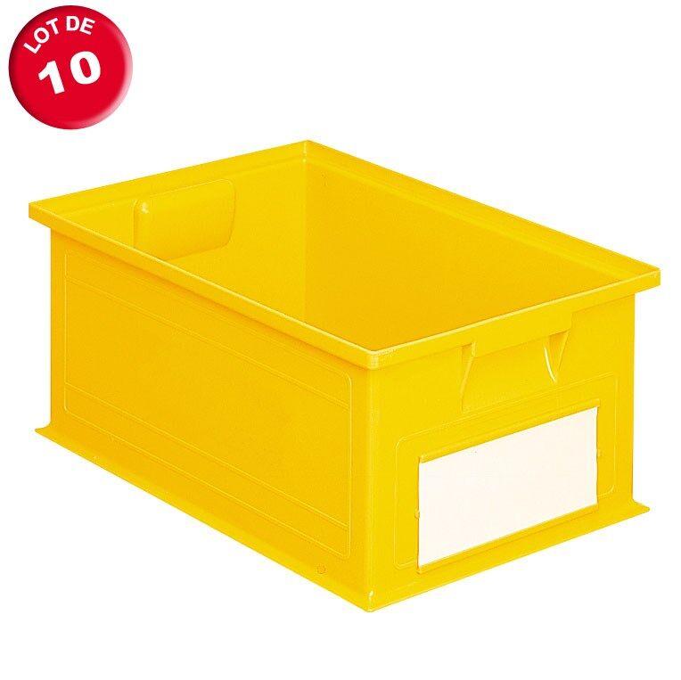 SETAM Carton de 10 caisses rangement 16 litres jaunes