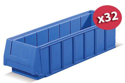 SETAM Carton de 32 bacs tiroirs plastique 12x40