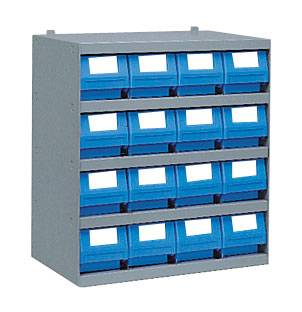 SETAM Casier 16 tiroirs pour rangement profondeur 30 cm